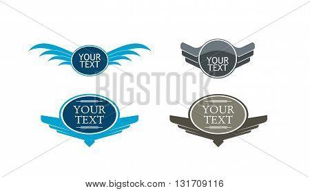 Vector set of vintage framed labels with copy paste area
