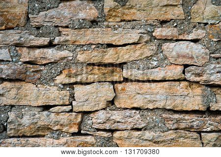 The Texture Of Masonry Rubble Closeup