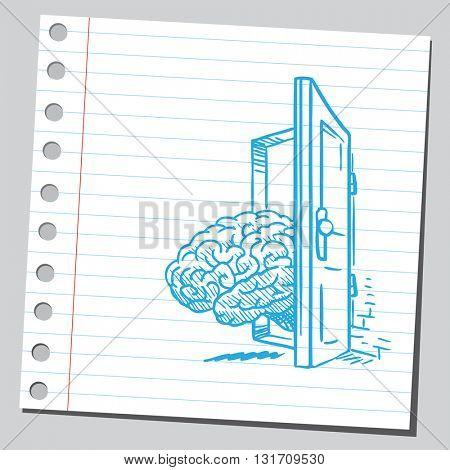 Brain coming at the door
