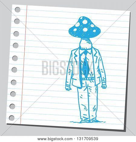 Businessman mushroom