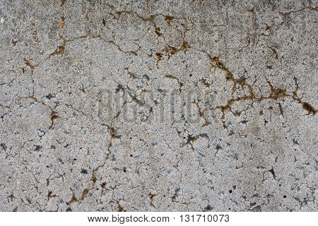 concrete wall with cracks and holes - texture background