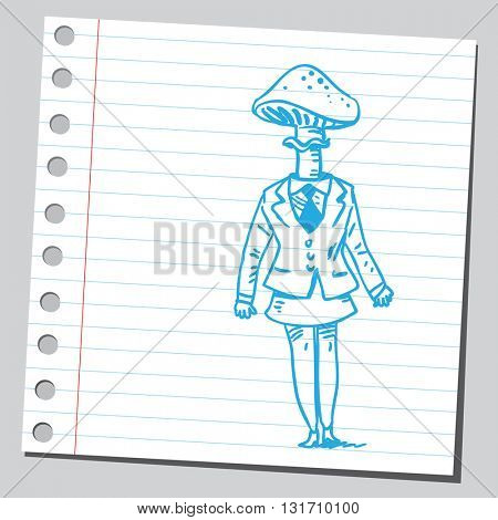 Businesswoman mushroom