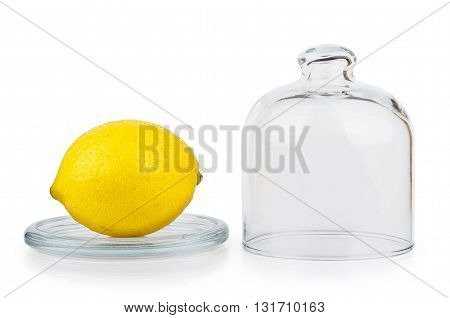 Transparent Saucer With Lid And Lemon