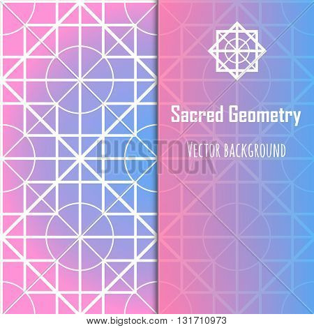 Vector abstract geometric background. Modern sacred geometry theme
