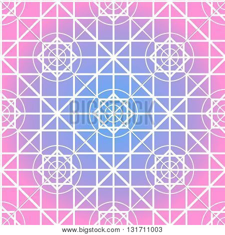 Vector abstract geometry seamless texture. Modern sacred geometry theme