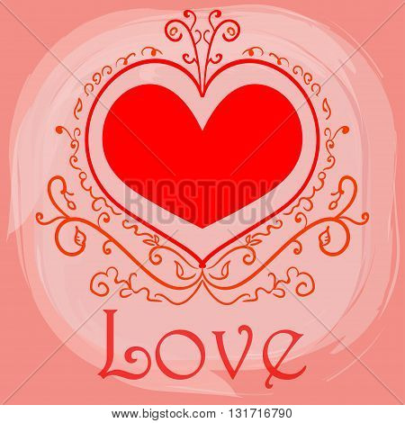 Valentine's day. Wedding. Family day. Beautiful greeting card for love