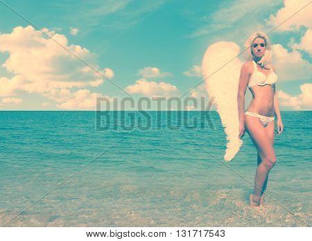 Blonde Angel Girl