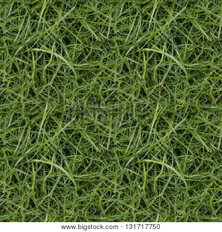 Seamless pattern of green grass football field for printing or design without seams