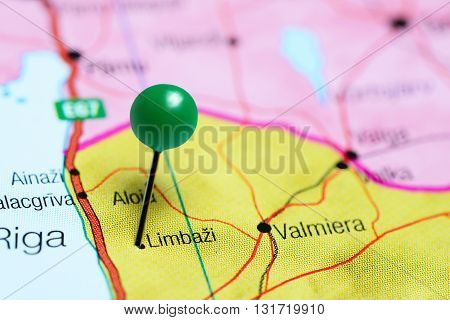 Limbazi pinned on a map of Latvia
