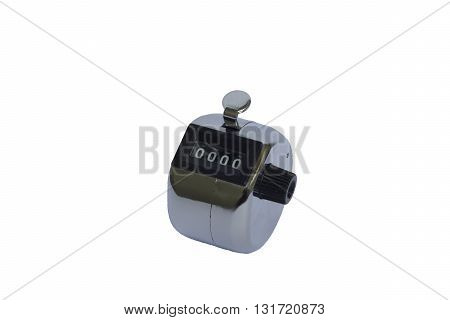 Tally counter isolated white background , start