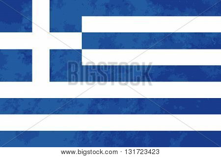 True proportions Greece flag with grunge texture
