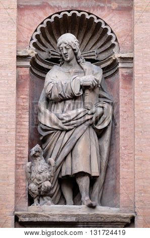 BOLOGNA, ITALY - JUNE 04: Saint John the Evangelist, Church of SS. Salvatore. Bologna. Emilia-Romagna. Italy, on June 04, 2015.