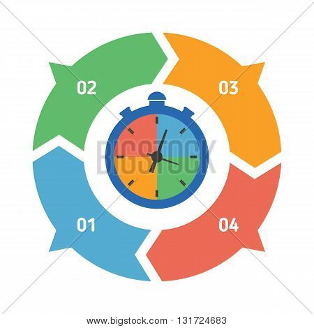 Vector circle element for infographic. Template for graph presentation and round chart. Abstract background.