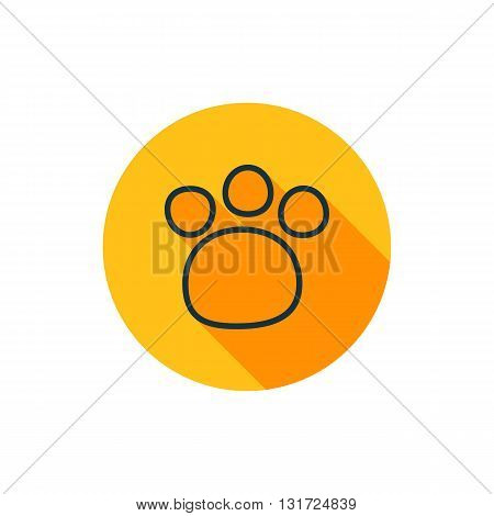 Vector illustration of paw icon paw icon button vector paw icon paw icon image paw icon badge paw icon sign paw icon logo paw icon design