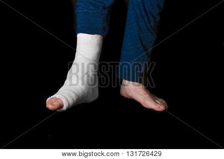 White Leg Cast