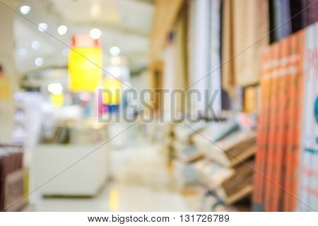 Defocused Blurred Background Of Home Shopping Mall