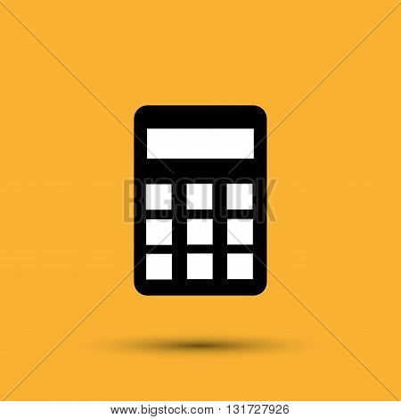 Calculator concept with icon design, vector illustration 10 eps graphic.
