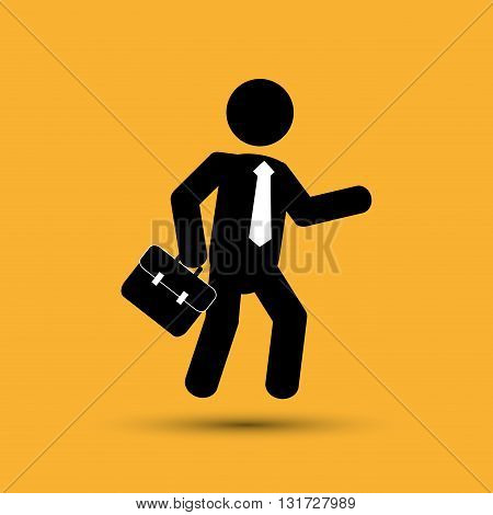 Businessnessman concept with icon design, vector illustration 10 eps graphic.