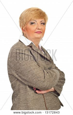 Beautiful Middle Aged Business Woman