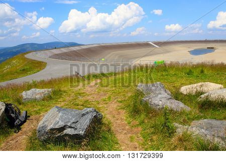 Photo Of The Empty Water Reservoire Dlouhe Strane
