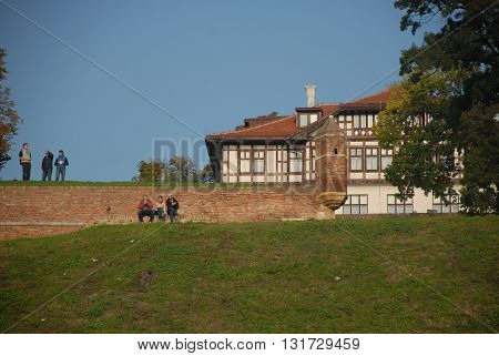 BELGRADE/SERBIA-OCTOBER 23, 2015: Historic building at the Belgrade Castle. October 23, 2015-Belgrade/Serbia