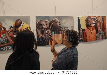 ANKARA/TURKEY-MARCH 26, 2016: Spectators at the CSM Art Gallery during the 6th Ankara Photo Days of FSK. March 26, 2016-Ankara/Turkey