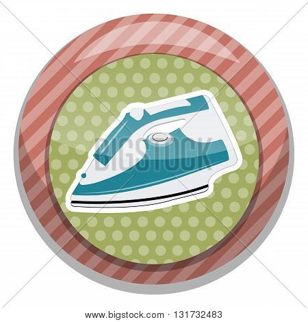 Clothing iron colorful icon. Vector illustration eps10 graphic
