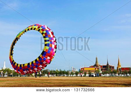 Rainbow Kite sky outdoor game summer giant kite big kite bangkok thailand