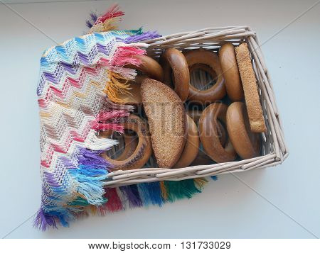 Bagels, biscuits Traditional products of the Belarusian cuisine. Served guests for tea.