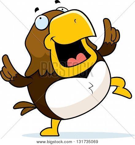 Cartoon Hawk Dancing