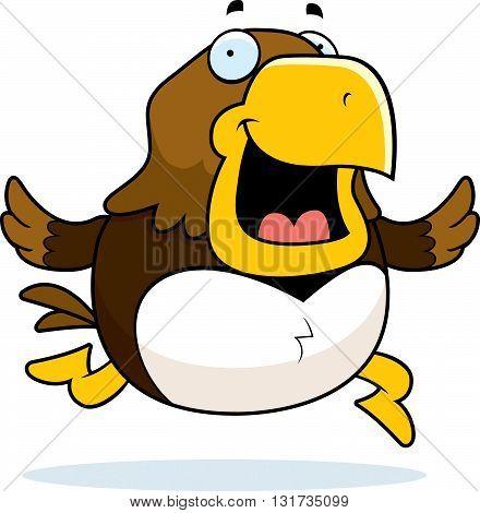 Cartoon Hawk Running