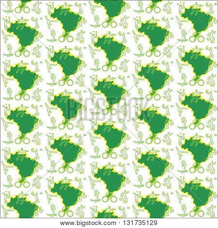 Vector Brasilia green country on the white background
