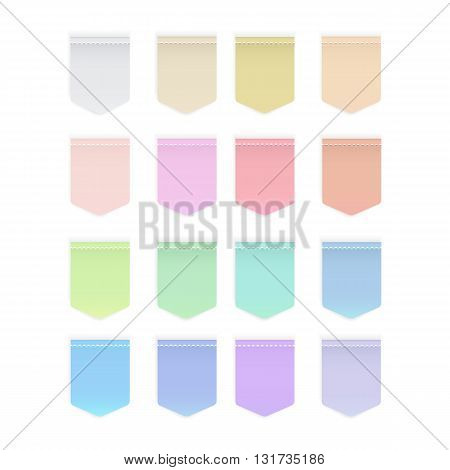 Set of colorful button icon Label icon illustration