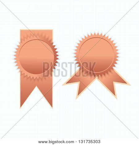 Bronze label icon sign elegance vector illustration