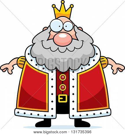 Cartoon King Smiling