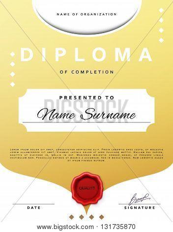 Certificate design. Template diplom. Border  certificate. Certificate frame. Certificate and diploma. Certificate of achievement. Premium present certificate. Guilloche certificate. Border frame