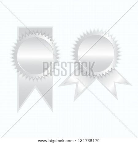 Silver label icon sign elegance vector illustration