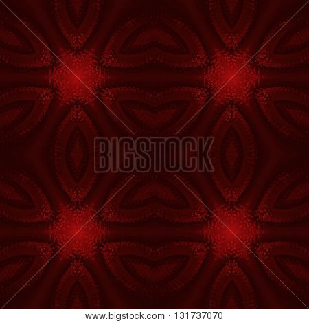 Abstract geometric seamless background. Regular stars pattern in deep red and brown shades.