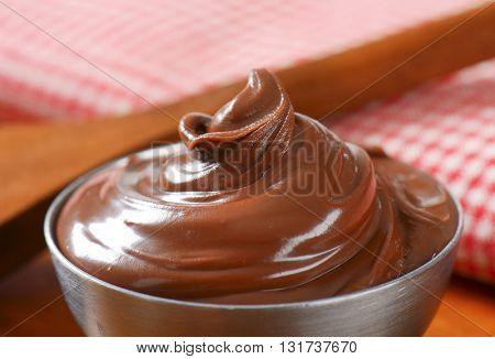 bowl of hazelnut butter - close up