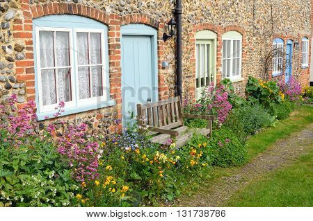 Exterior of an old cottage in Wells-next-the-sea, Norfolk, England
