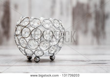 Candle Holder With Crystals