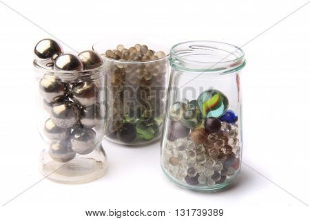 Small Glass And Metal Spheres