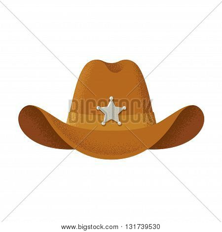 Cowboy hat illustration vintage style with texture.
