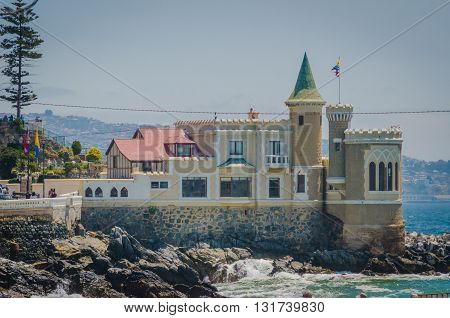 Vina Del Mar, Chile - November 01 2014: Wulff Castle In Vina Del Mar, Chile.