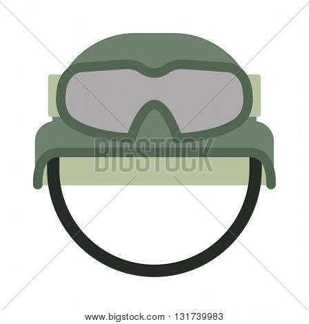 Military uniform helmet isolated on a white background vector