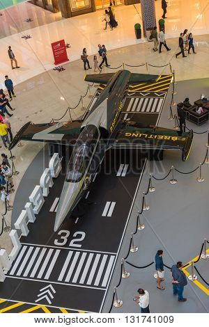Airplane In Dubai Mall Shopping Center