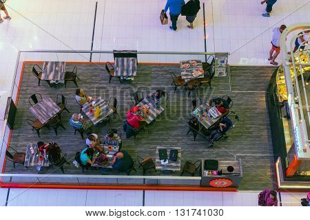 People In A Cafe In Dubai Mall Shopping Center
