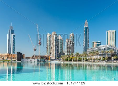 View On Dubai Downtown At The Dubai Mall
