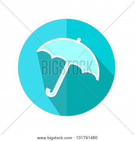 Umbrella Flat Icon. Weather Forecast. Vector Illustration.