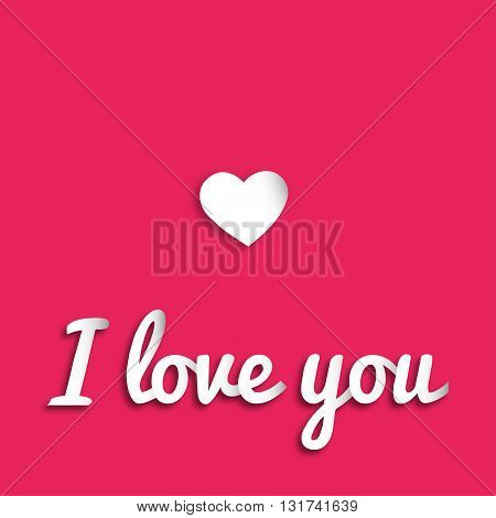 Greeting card I Love You. Vector illustration